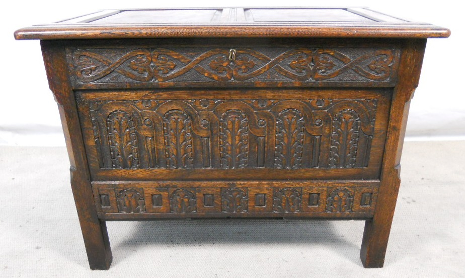 Dining Table To Seat 12 : antique jacobean style carved oak small blanket chest sold 1782 p from www.tehroony.com size 924 x 552 jpeg 205kB