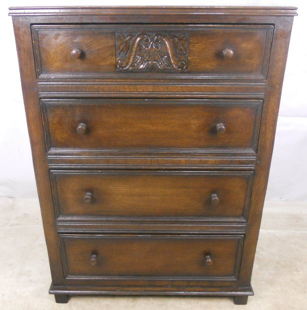Dark Oak Tall Chest Of Drawers Sold