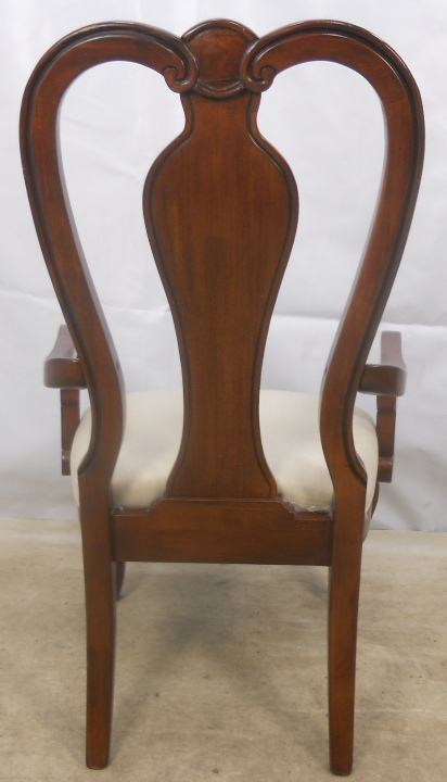 Queen Anne Style Mahogany Carver Armchair SOLD