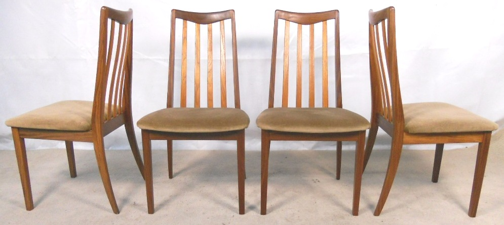 Set of four g plan mahogany teak dining chairs sold for G plan teak dining room chairs