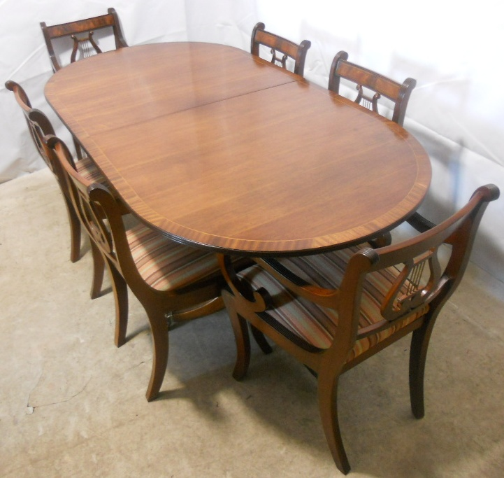 SOLD Regency Style Mahogany Extending Dining Table and