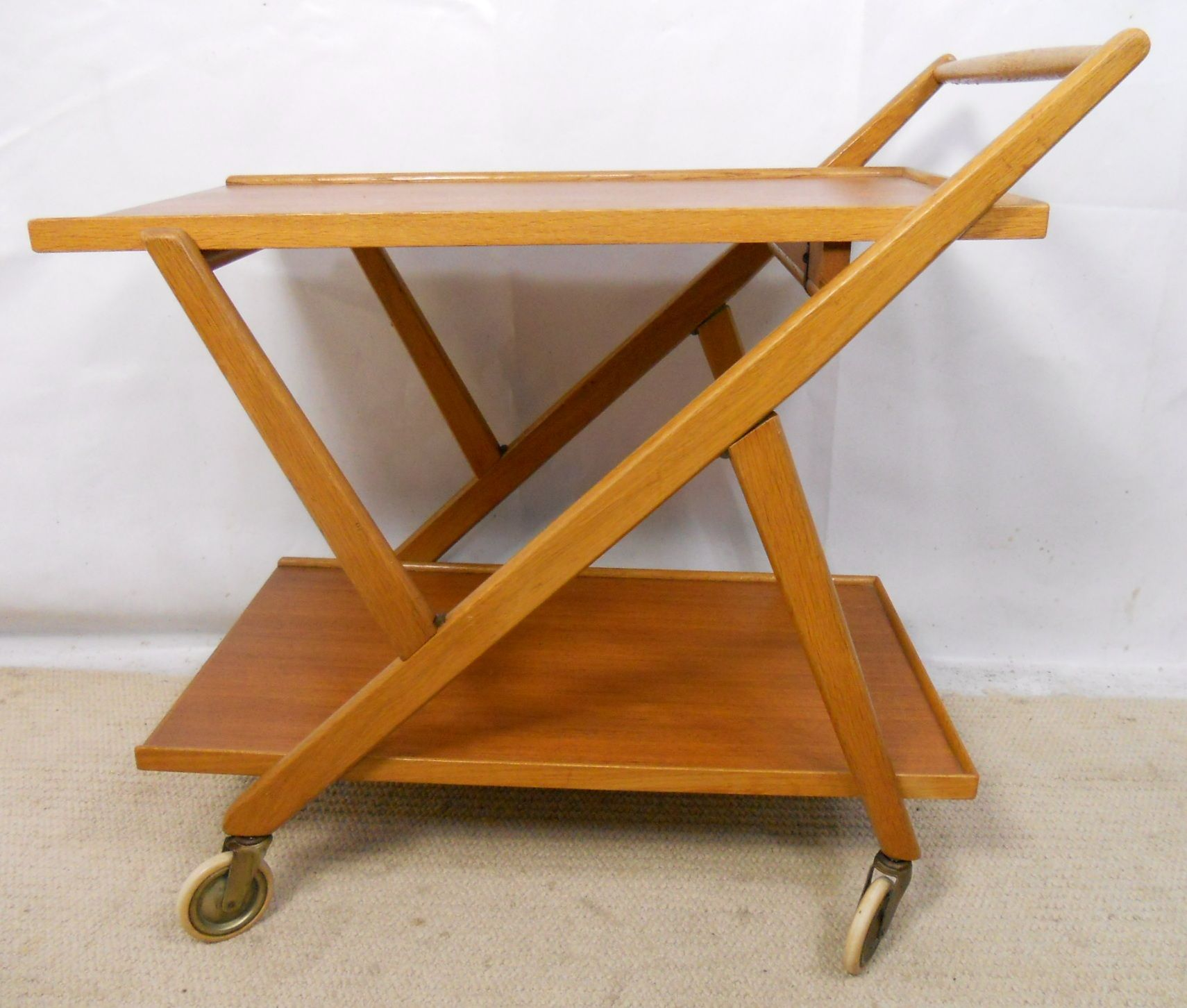 Teak Folding Tea Trolley Sold