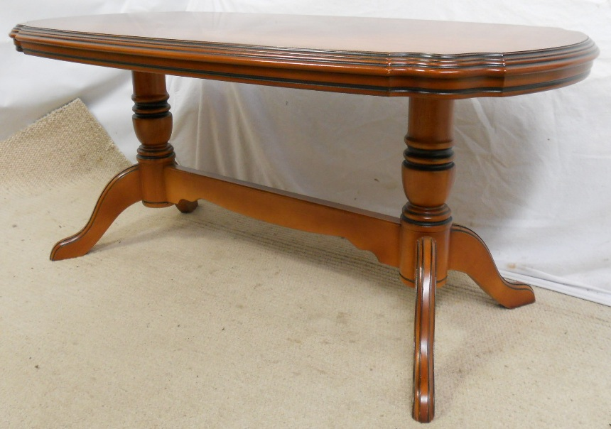 Victorian Style Walnut Long Coffee Table Sold